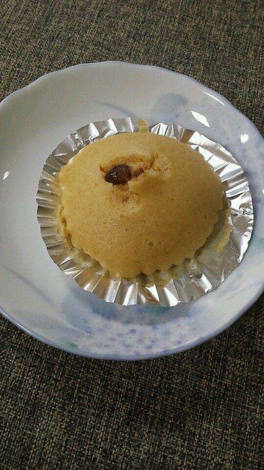 10月26日。おやつは、きなこの蒸しケーキでした!157カロリーです