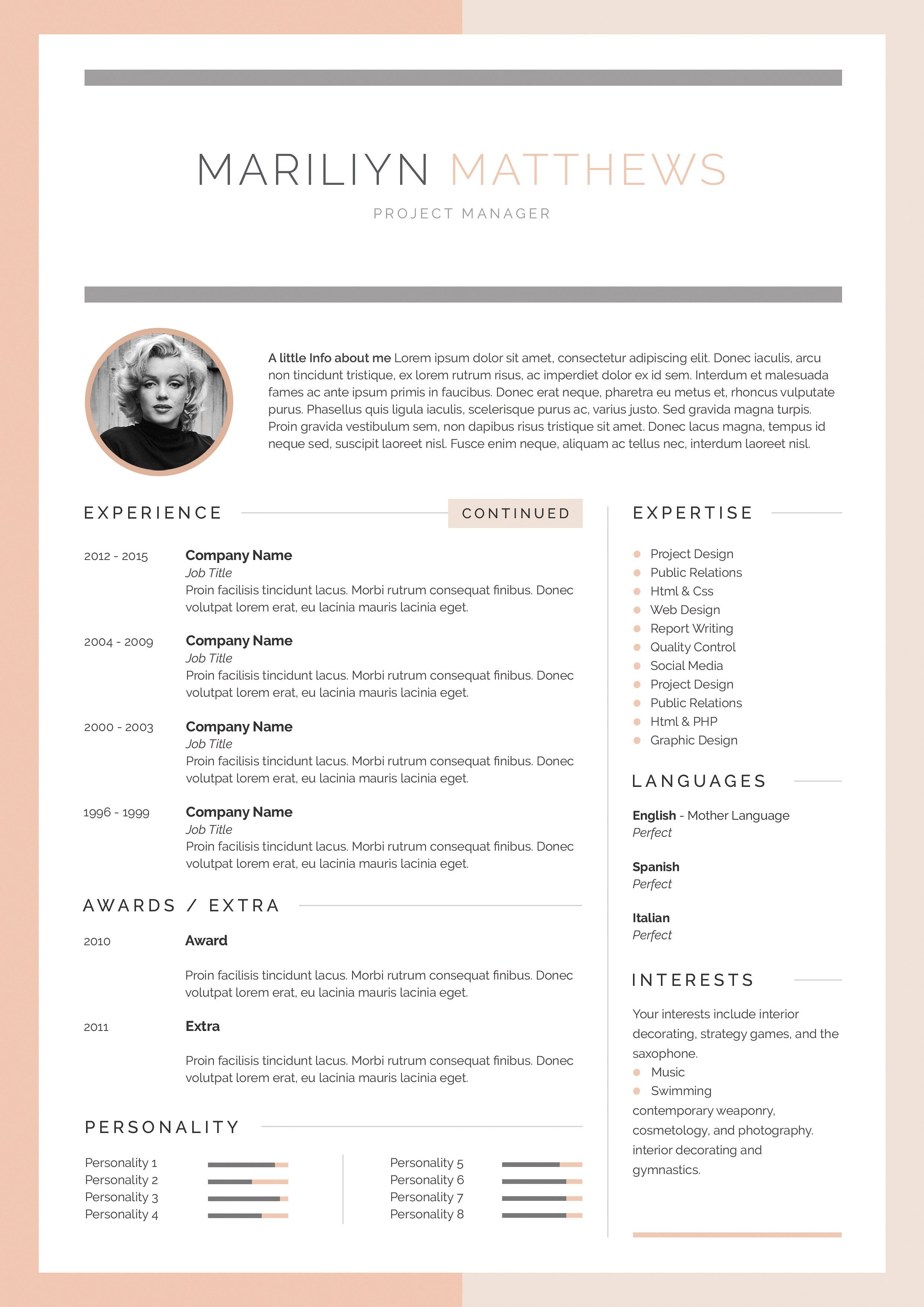 word resume & cover letter template the best cv sample pdf for bank jobs with experience link