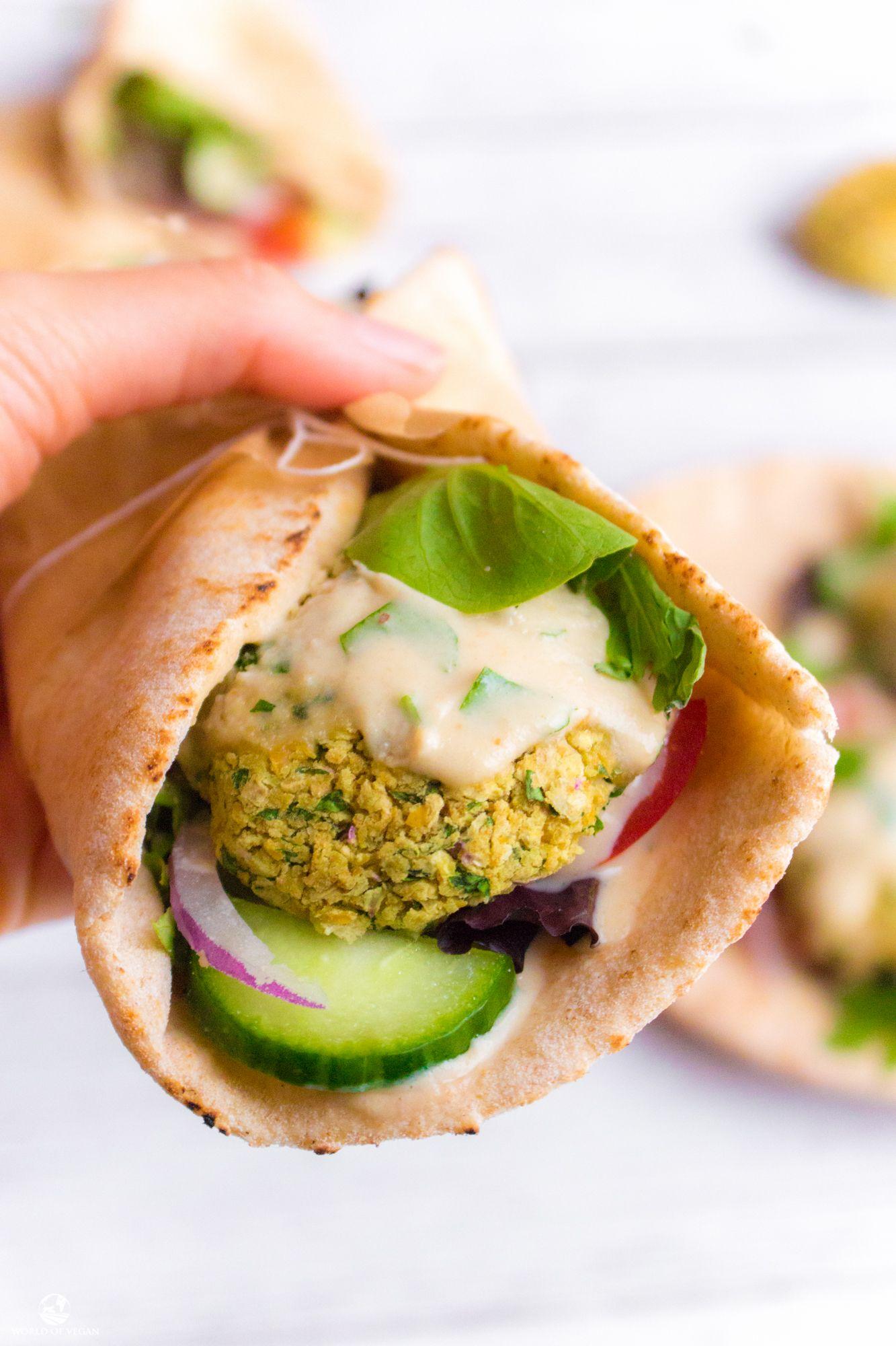 Vegan Falafel Pita