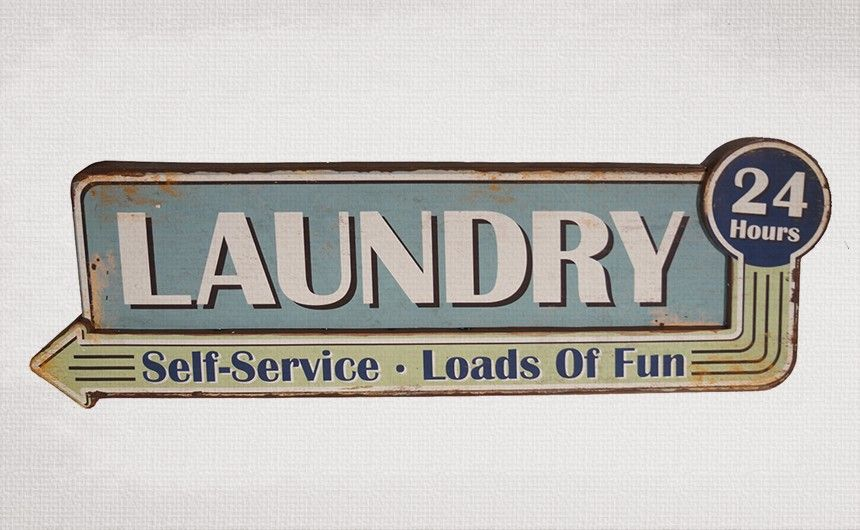 Laundry Sign Laundry 24 Hours Self Service Loads Of Fun Metal 12 5 H X 36 W