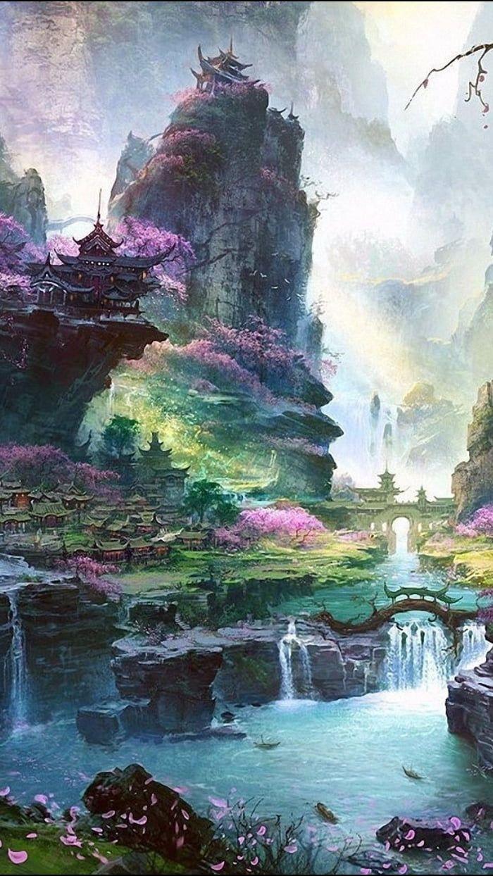 Wallpaper Fantasy Landscape Landscape Art Fantasy Art