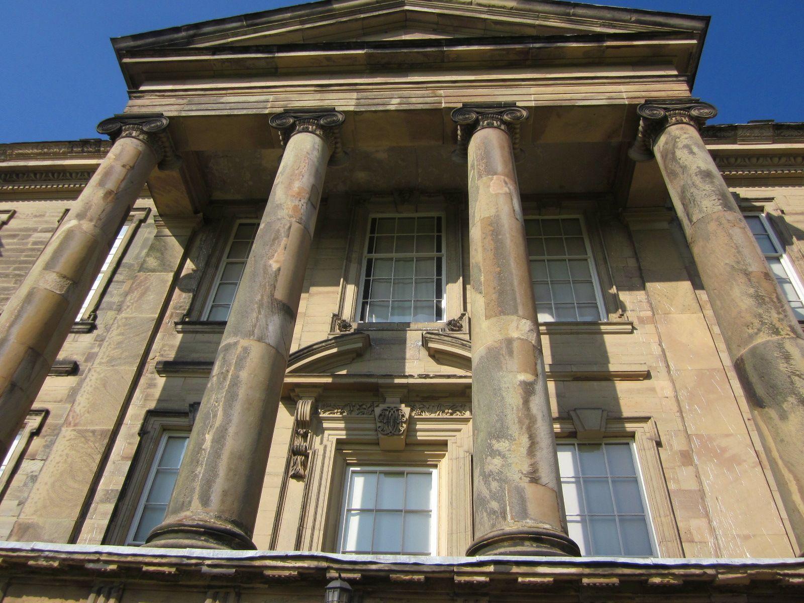 The facade of Calke Abbey