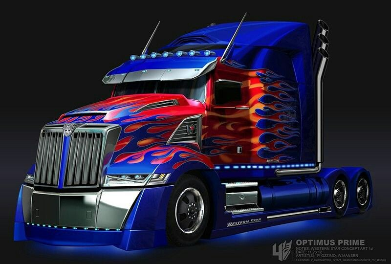 Custom Western Star With Images Optimus Prime Truck