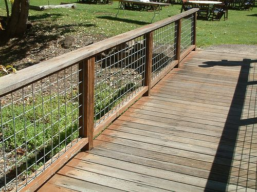Hog wire fence Garden railings Square patterns and Fences