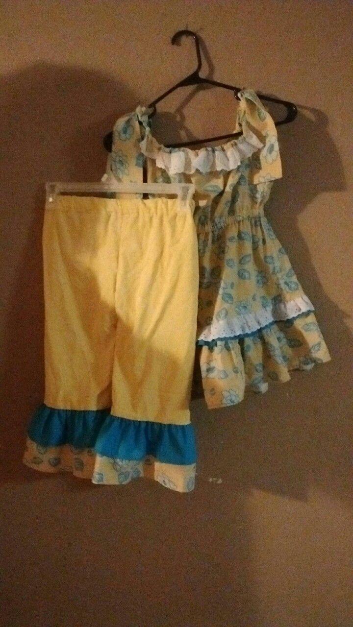 Capri outfit Toddler girl