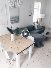 Photo of Salon et salle à manger scandinaves #decorationdesalon #deesdesalon #modernalon…