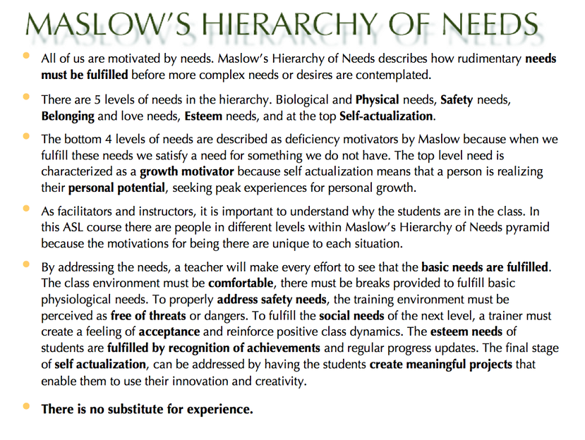 maslows hierachy and google Let's take a closer look at maslow's hierarchy of needs  google is able to  recruit the best and the brightest with an actualization-focused.