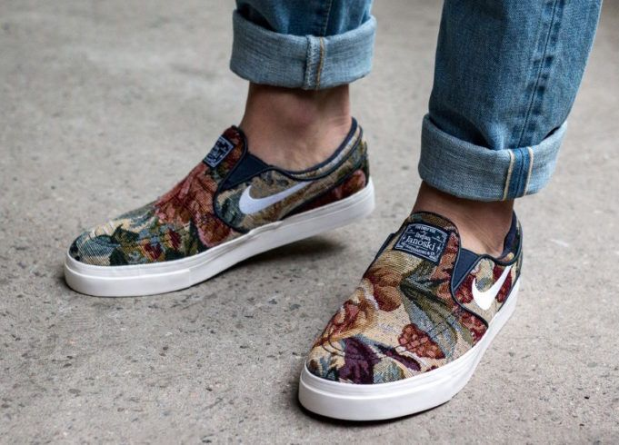 promo code 03442 b050c On Sale Now  45 Nike SB Stefan Janoski Slip On Floral 902365 914