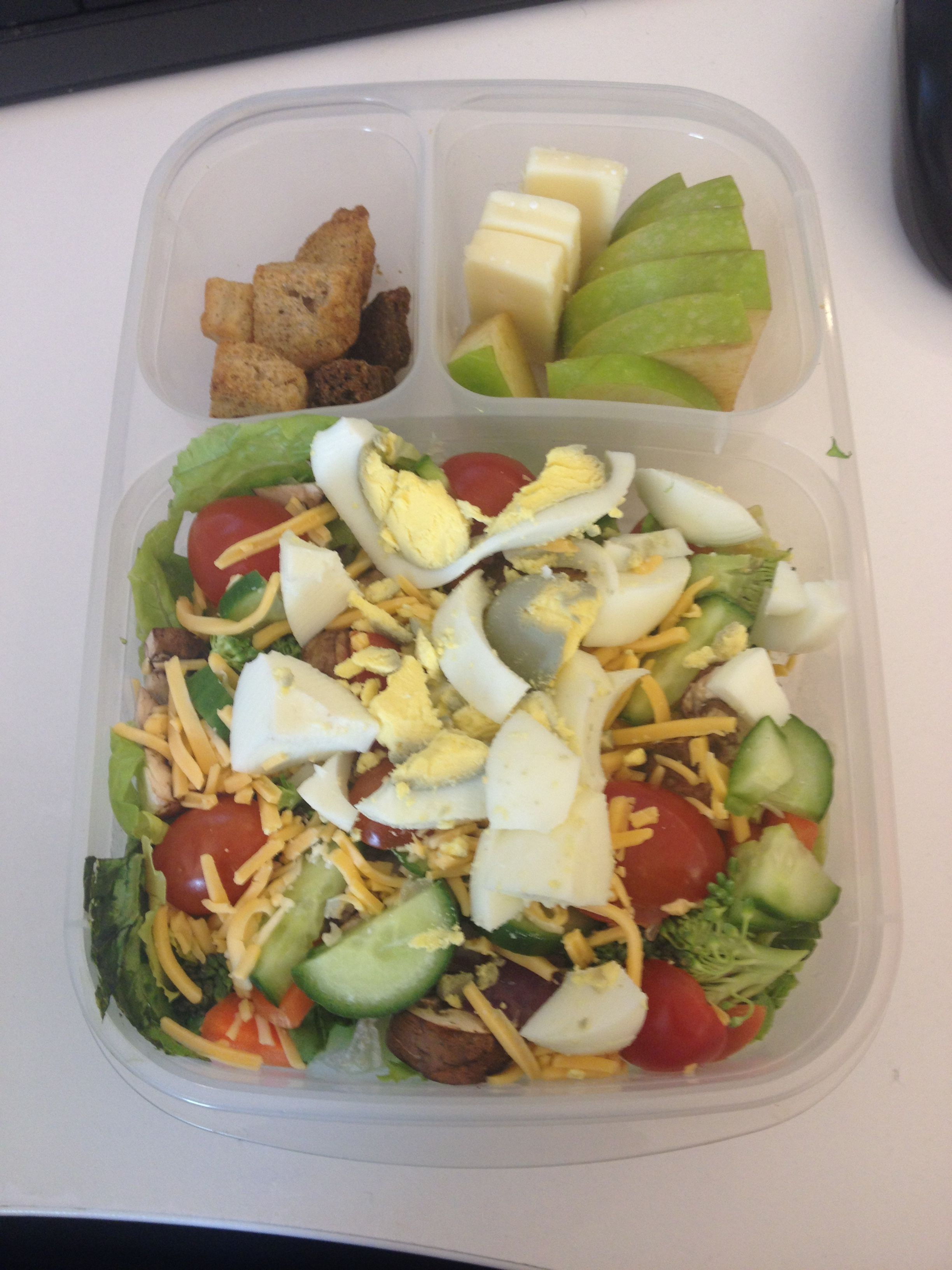1/21/15- Getting back into making my lunches. Salad w/ romaine, cucumber, carrot... 1/21/15- Gettin