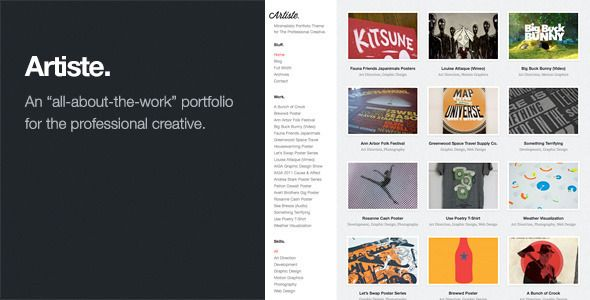 Artiste: Professional Portfolio WordPress Theme | Graphic Design ...