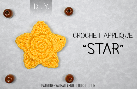 Patrones Valhalla Free Crochet Patterns Star Applique Pattern