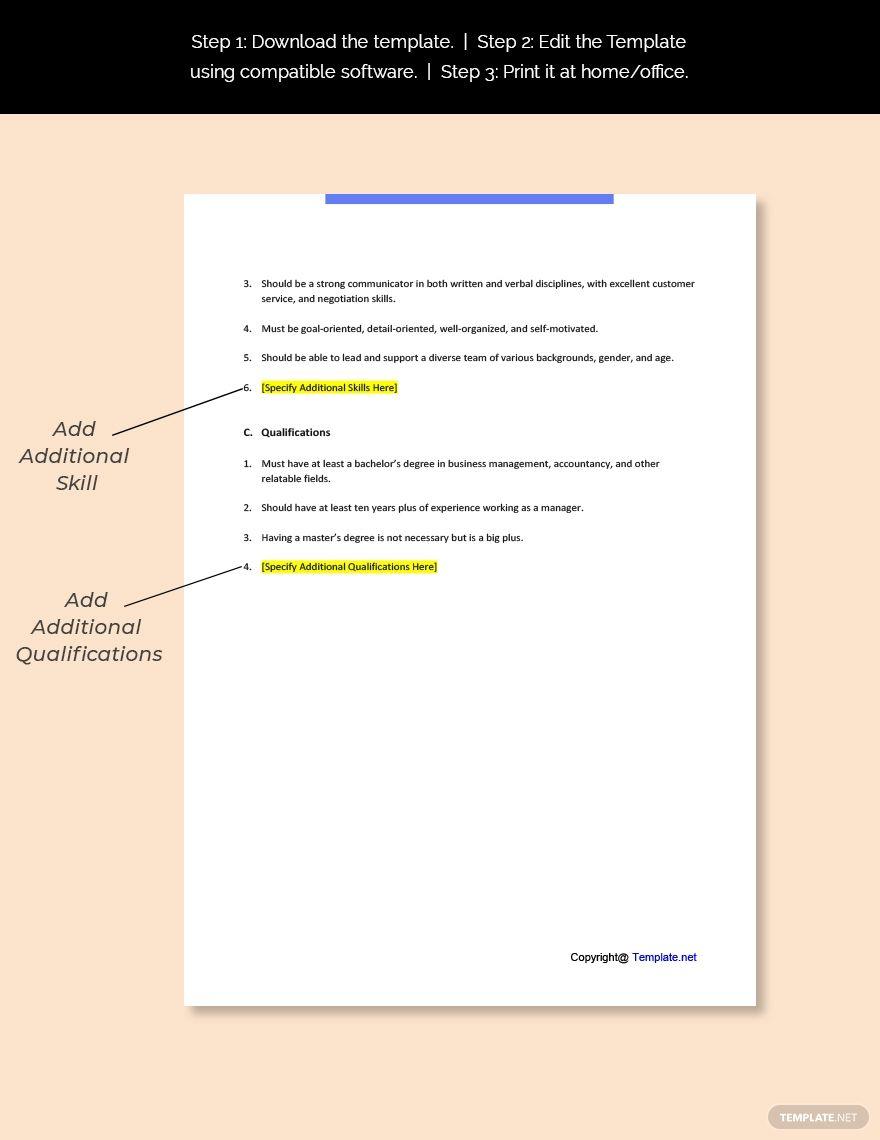 Free Director Of Business Development Job Description