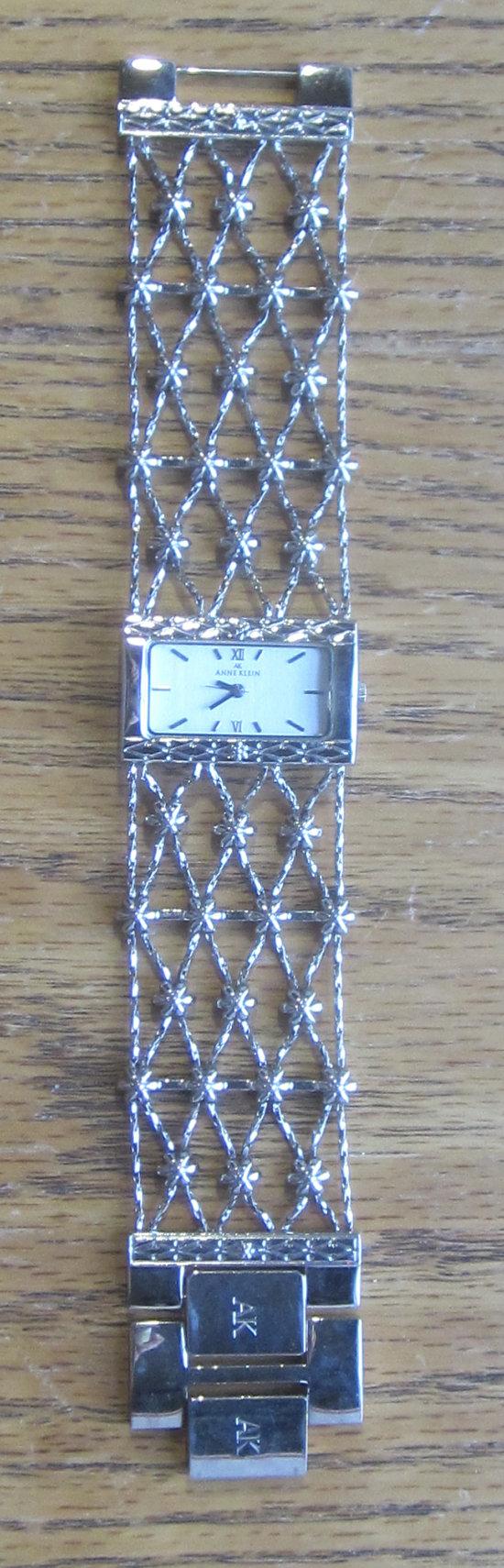 Anne Klein Open Mesh Bracelet Watch 1970's by LeftoverStuff, $49.00