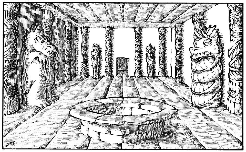 The Erol Otus Shrine Fantasy art, Fantasy artwork