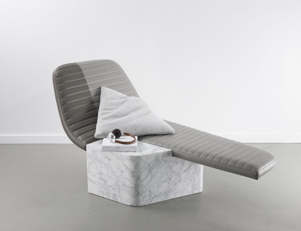Méridienne Opper leisure chair by Grégoire de Lafforest