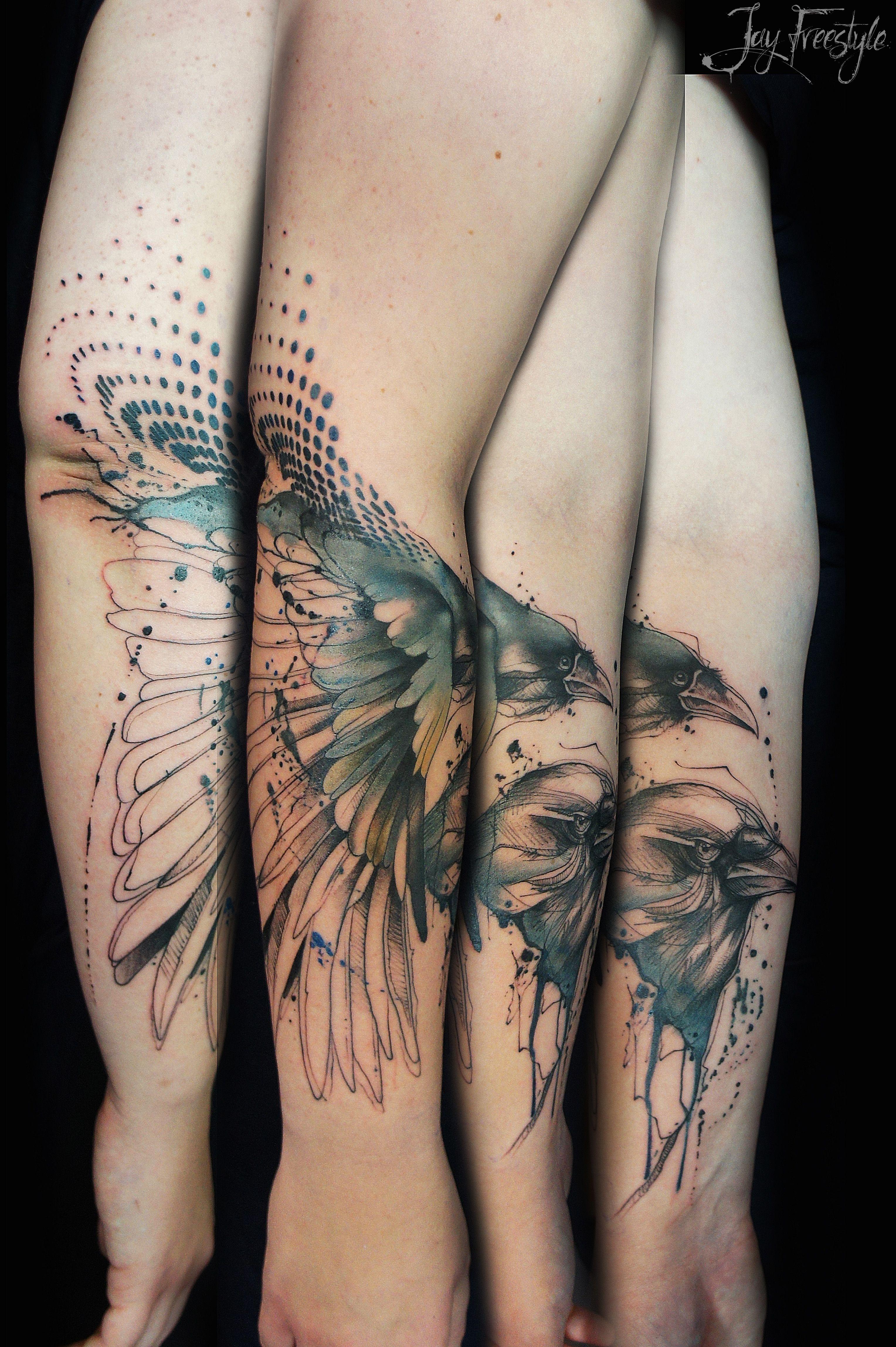 "Classic Tattoo Berlin: ""Freedom Lies In Being Bold."" Crow Piece I Did Last Week"