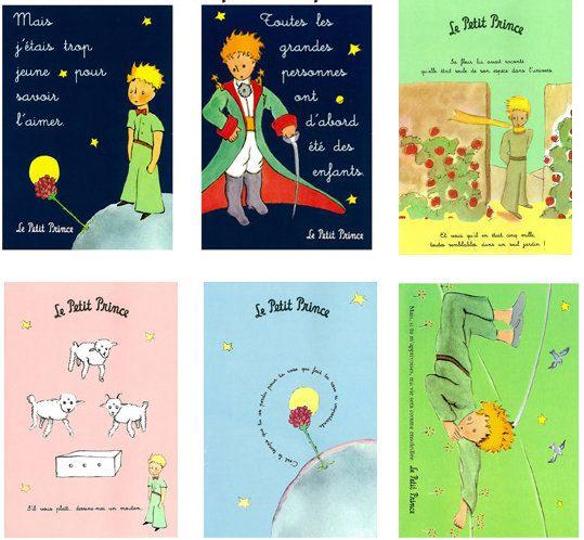 Le Petit Prince Postcard Set Of 12 6 90 Via Etsy The Little Prince Postcard Teaching French