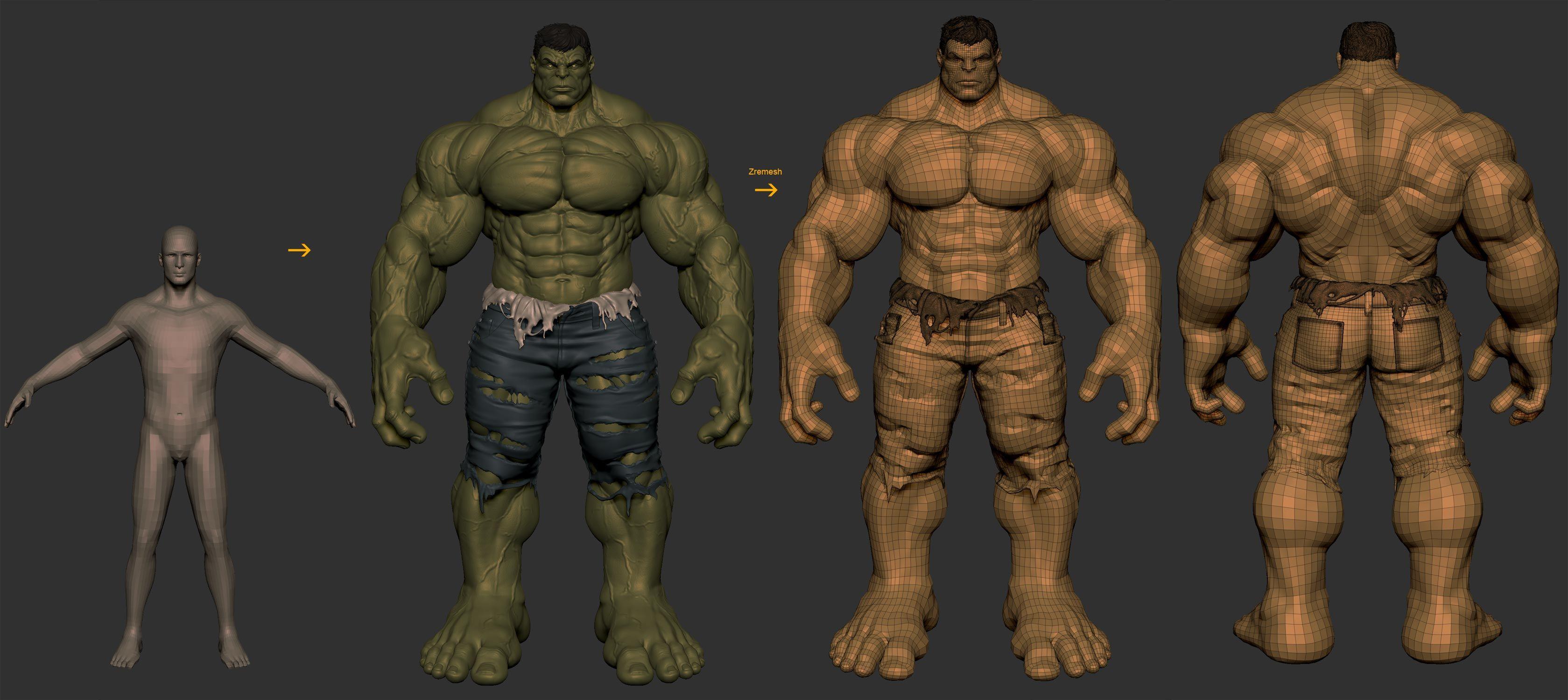 Hulk - Collectible Statue | zbrush | Pinterest