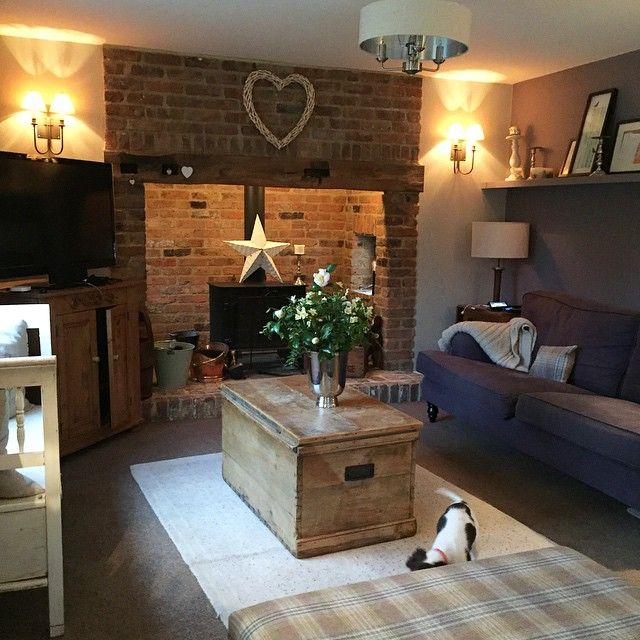 Il Cottage Di Sally In Cornovaglia Cottage Living Rooms Cosy