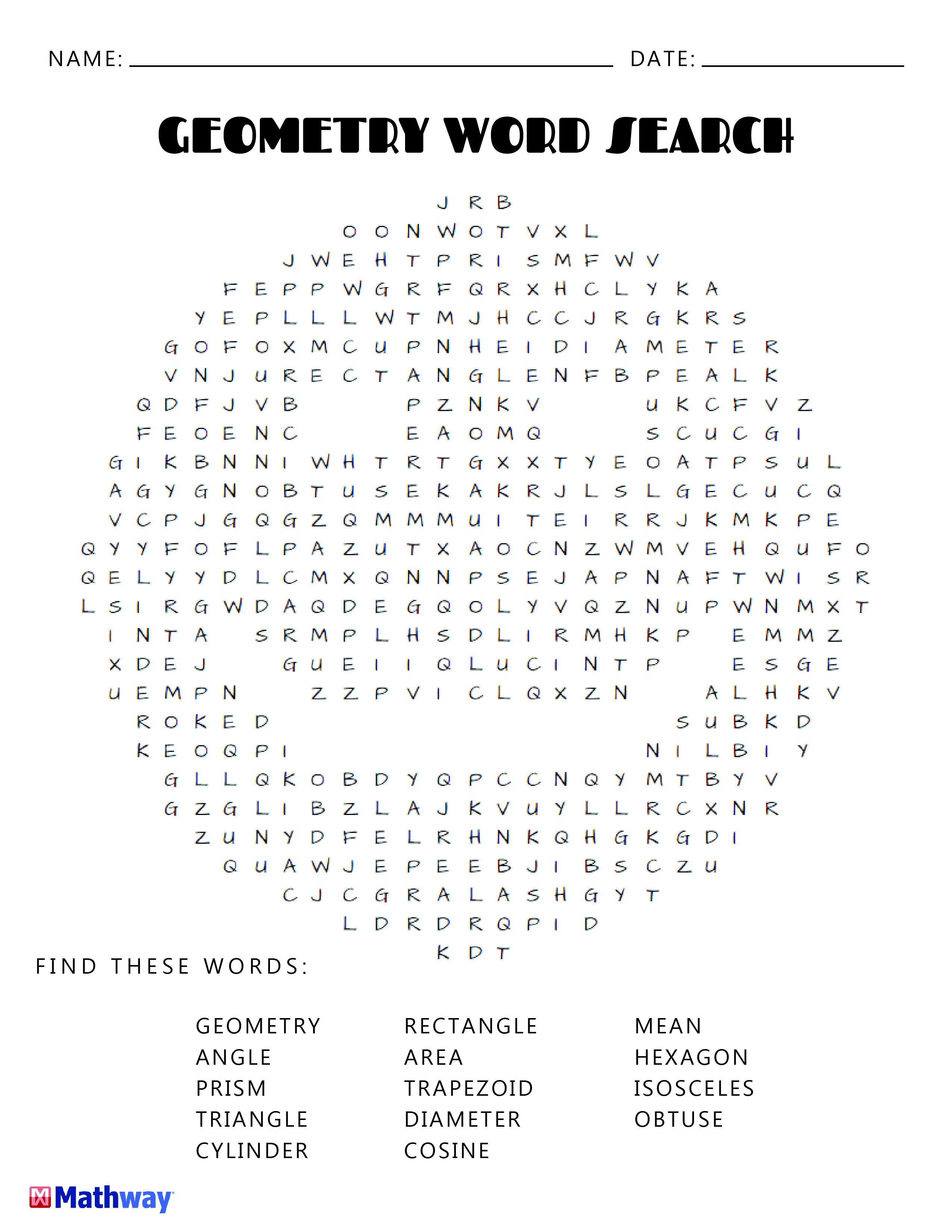 Try our Geometry Smiley Face Word Search. Keep busy with our ... Mathway Geometry on