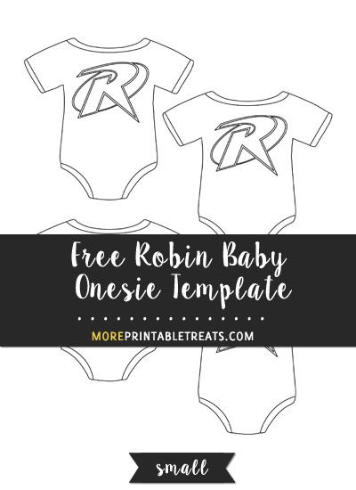 free robin baby onesie template small size baby shower