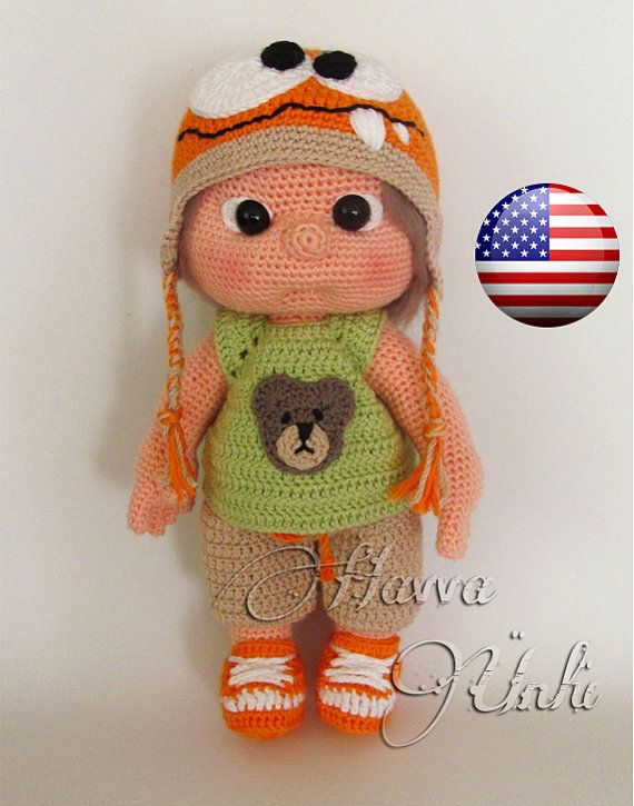 PATTERN - Tommy With Monster Hat and Clothes (Amigurumi Doll Pattern ...