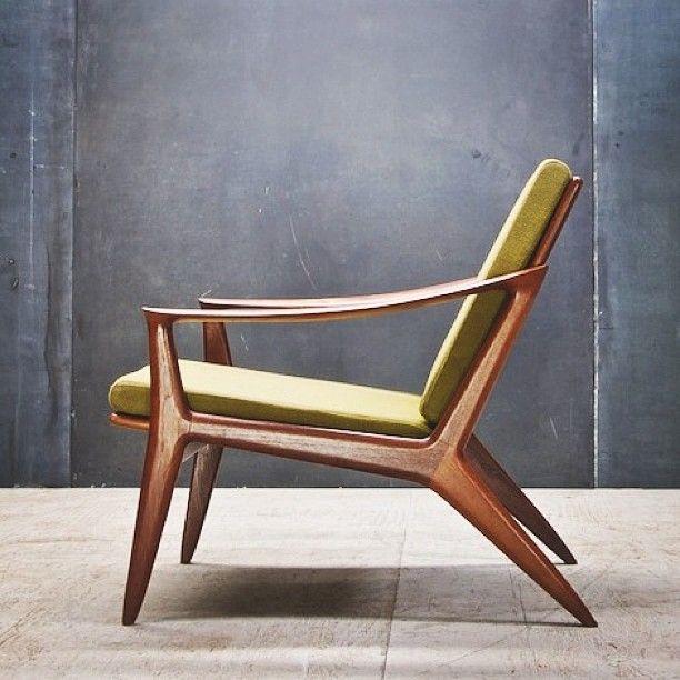 Danish Mid Century Modern Poul Jensen Z Chair For Selig Denmark 1950s 가구 의자 디자인 흔들의자