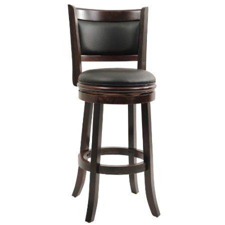 Amazon.com: Boraam 48829 Augusta Swivel Stool, 29-Inch, Cappuccino: Home & Kitchen $98