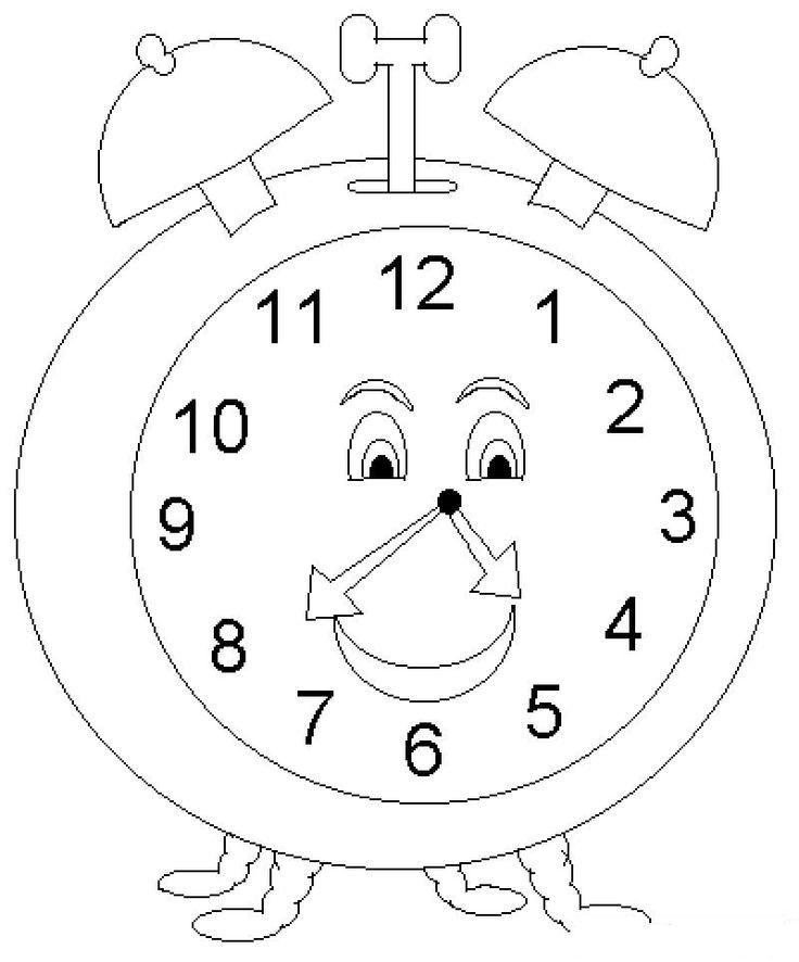 Saat Okulöncesi Saat Boyama çocuklar Için Boyama