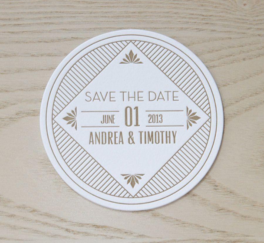 Montreal Wedding Invitations: Tartine Paperie Spotlight + A Gatsby-Inspired Invite