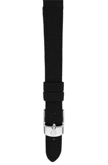 2df10b9ad Women's MICHELE 12mm Grosgrain Watch Strap - Black Grosgrain ...