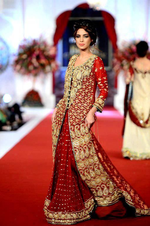 Bridal dresses in red colour images