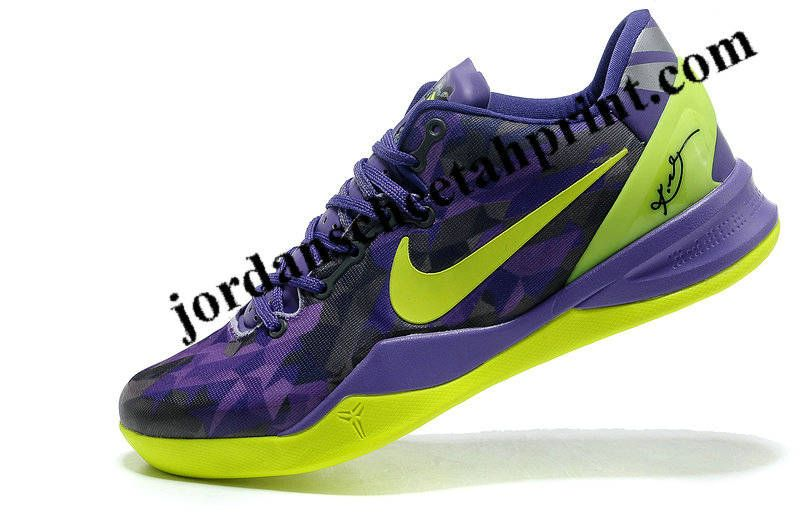 low priced a1312 7aff3 Nike Kobe 8 System Purple Gradient Volt Lime Green