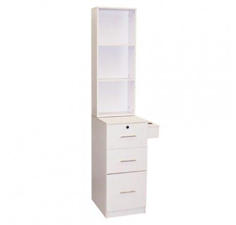 Salon furniture deco vega with shelves white