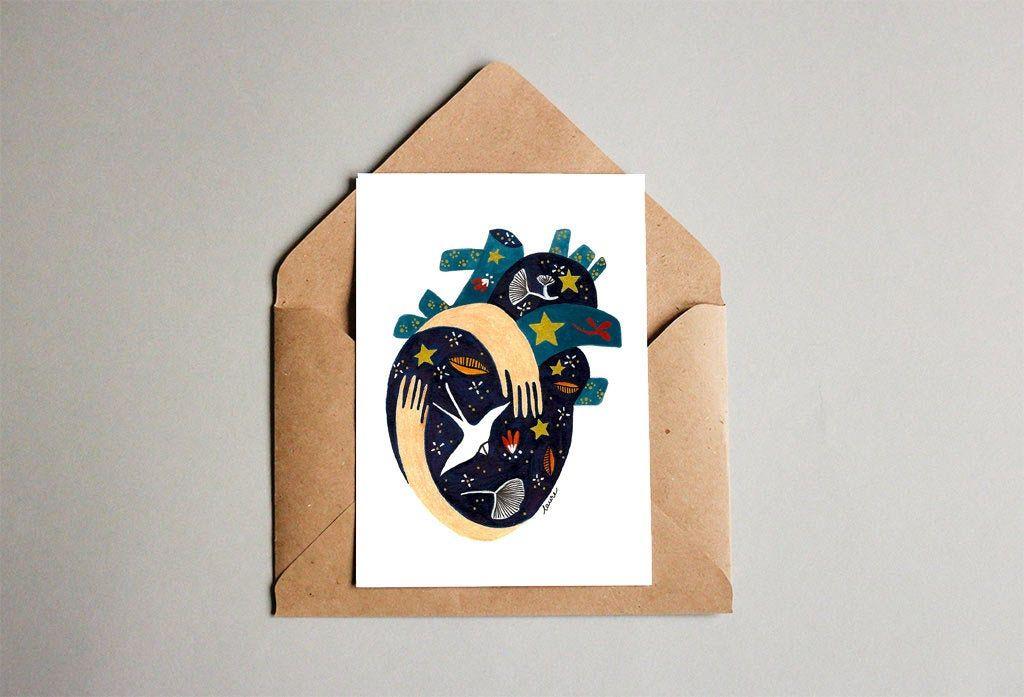 Carte postale Coeur   Carte postale, Postale, Carte