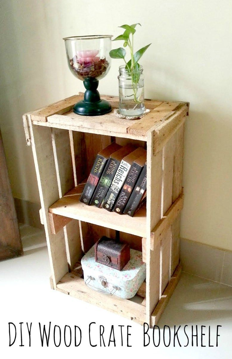I Turned This Crate In To A Bedside Table Home Decor Crate Bedside Table Diy Crate Bedside Table