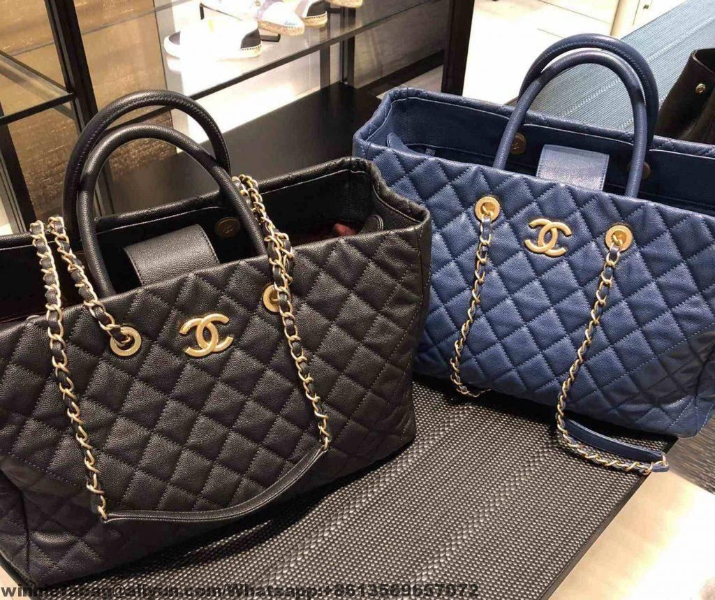 5139fe0655b1 Chanel Grained Calfskin Coco Allure Large Shopping Bag A93525 F/W 2018