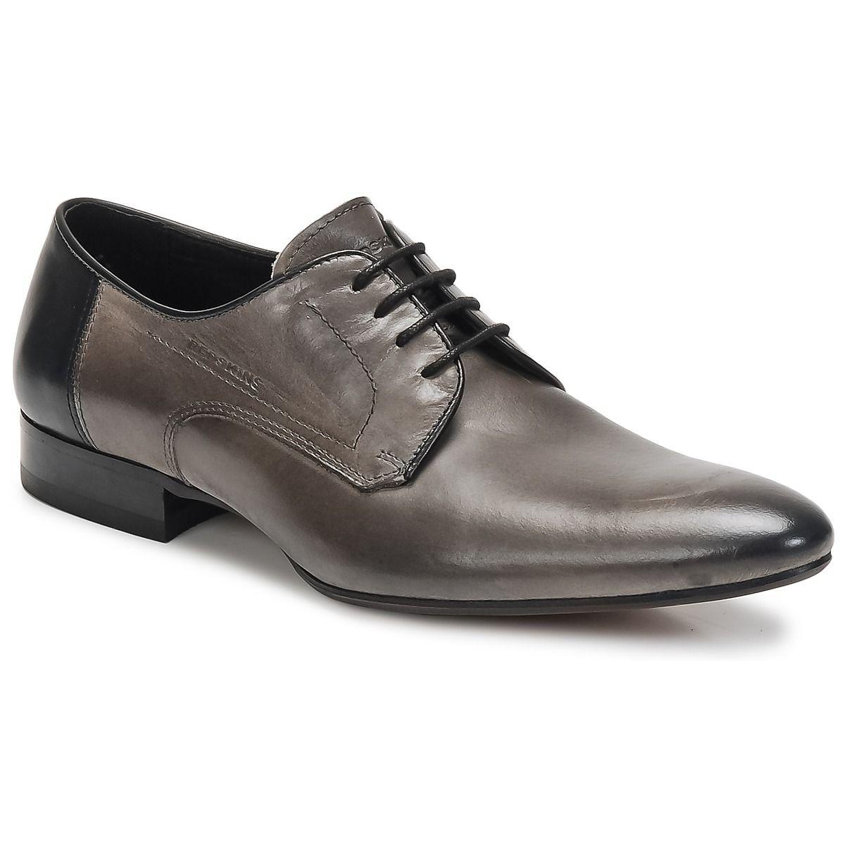 Derbies Redskins WAXY Gris / Noir - Livraison Gratuite avec Spartoo.com ! - Chaussures Homme 109,90 €