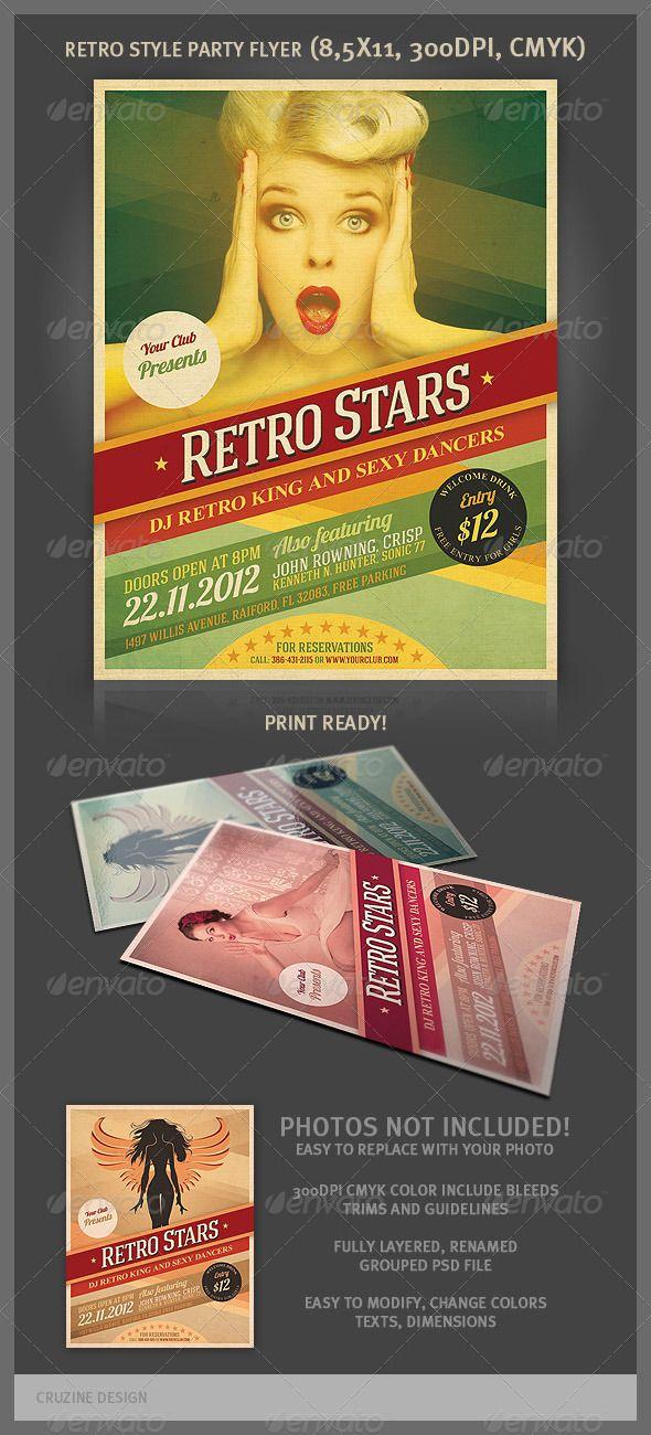 Cool Retro Party Flyer Retro party, Party flyer and Retro graphic