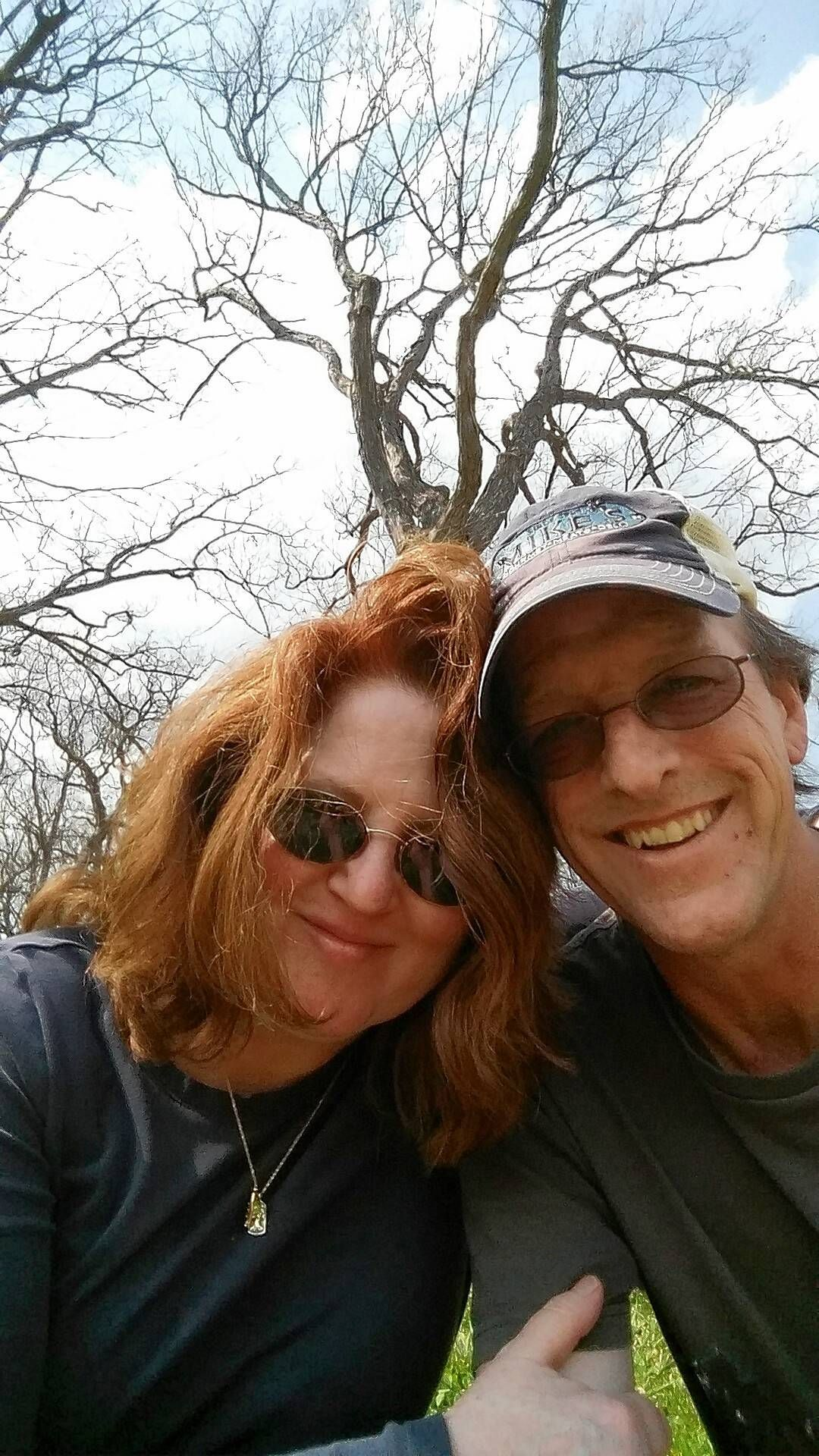 Annie Overboe and her husband, Michael, spend some time at Morton Arboretum.
