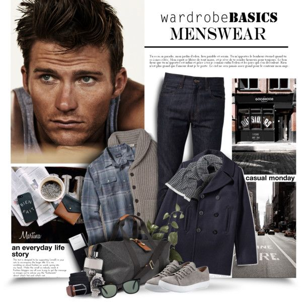 Wardrobe Basics: Menswear by thewondersoffashion on Polyvore featuring Patagonia, Gucci, Burberry, Yves Saint Laurent, Calvin Klein, Vince, Breitling, Ray-Ban, Mulberry and Anna Söderström