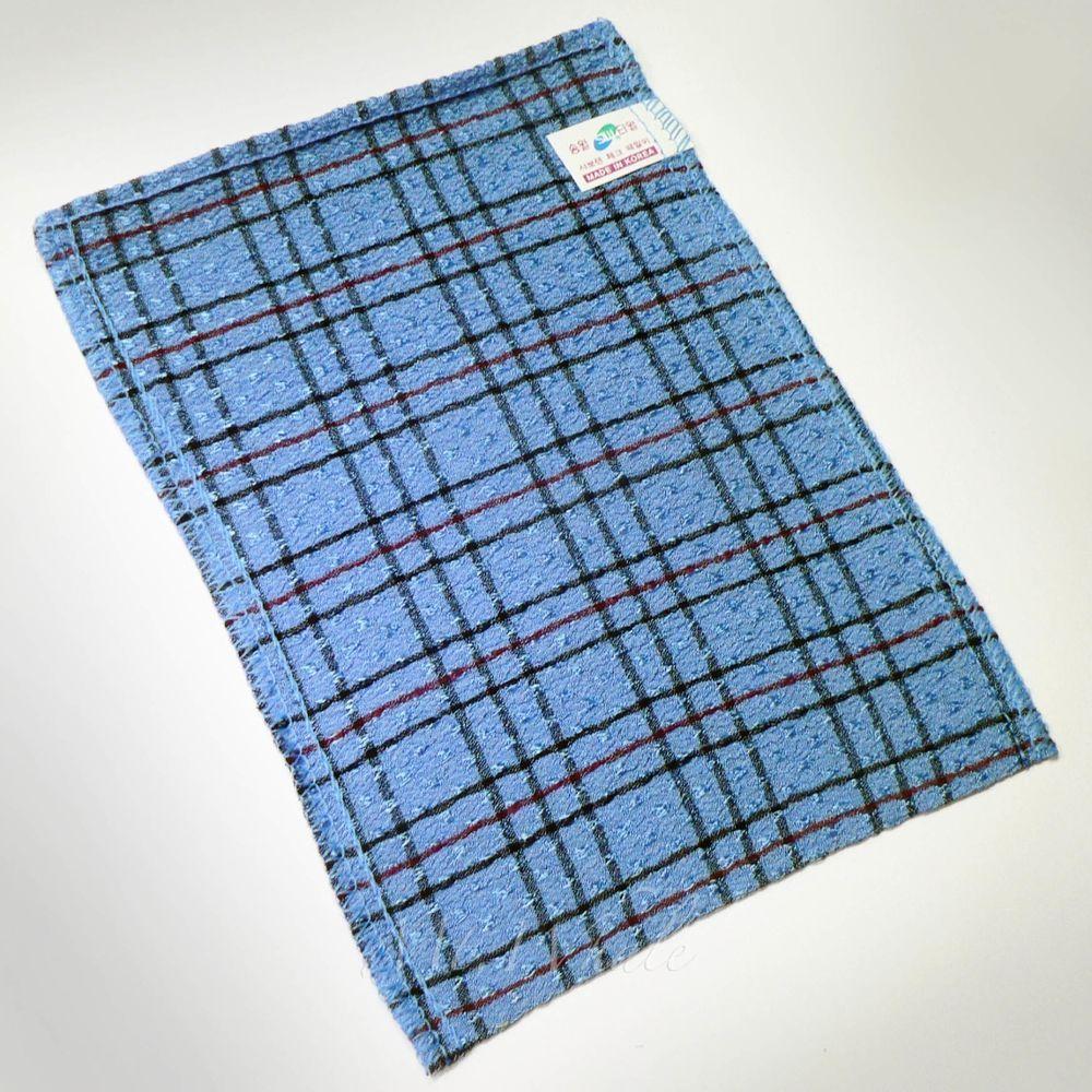 Korean Washcloths: Details About NEW! CHECK BLUE ITALY TOWEL KOREAN WASHCLOTH