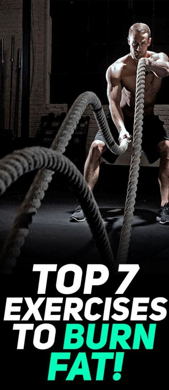 Check out the top 7 exercises to burn fat! #fitness #exercise #workout #gym #fit #health #burnfat