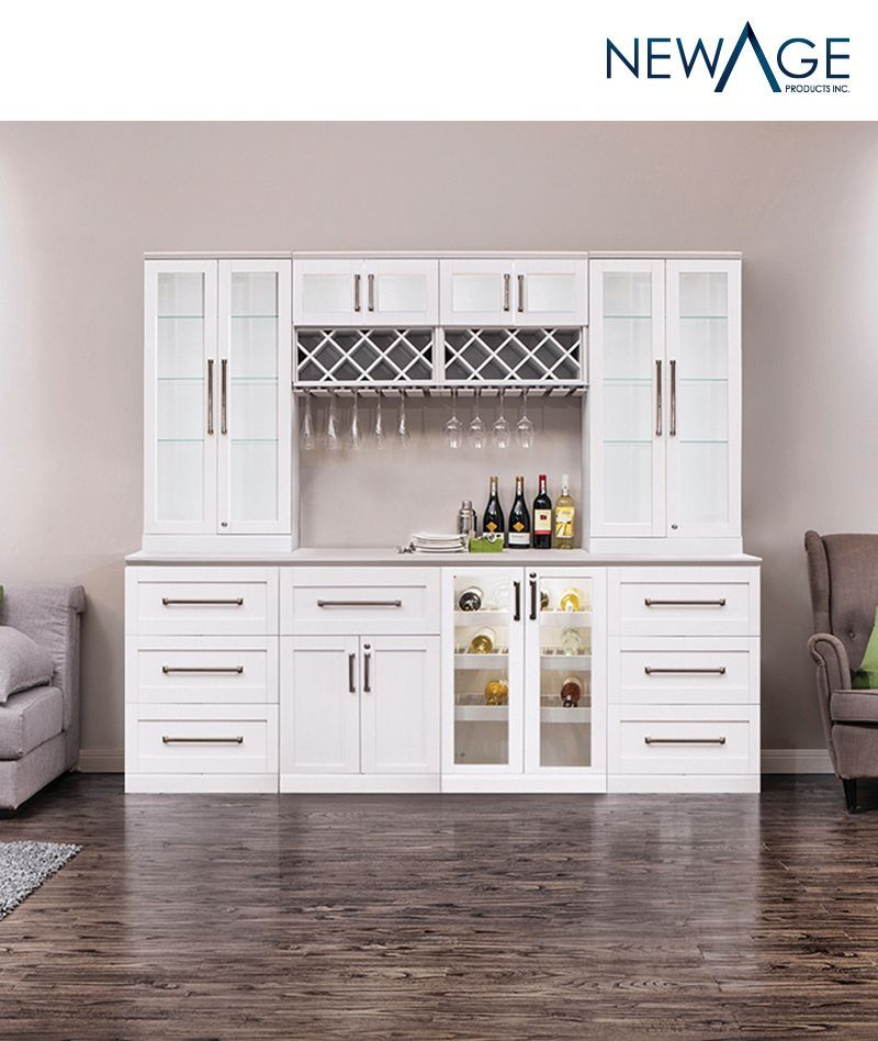 Home Wine Bar 9 Piece Cabinetry Set By Newage Products Home Wine Bar Modern Home Bar Bars For Home