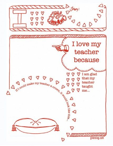 Awesome printable for teacher appreciation week As a teacher I - free printable templates for teachers