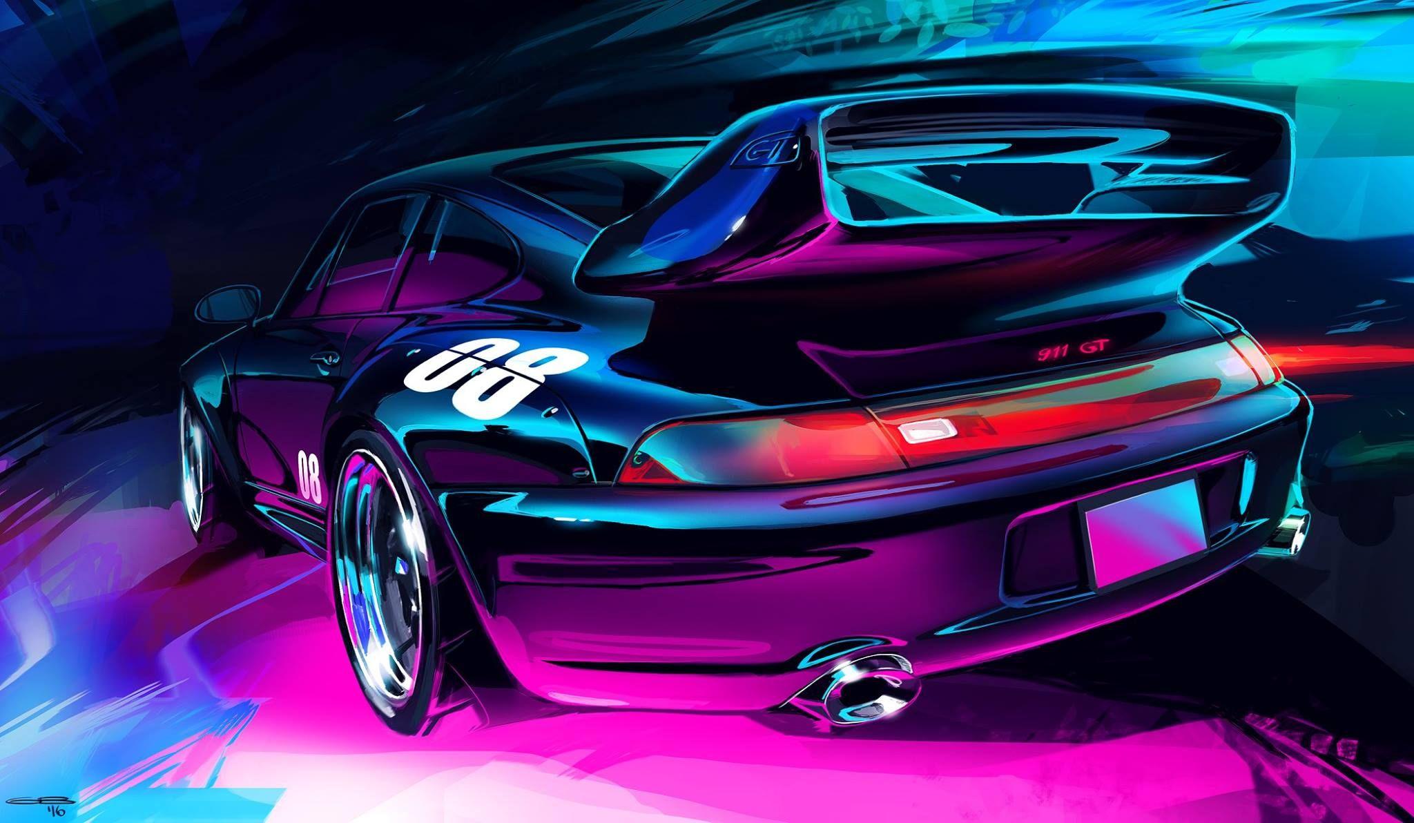 Art Cars Car Artwork Automotive Illustration