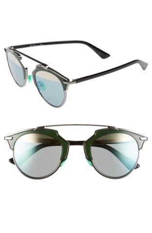 85ddc3716a12 Dior So Real 48mm Round Brow Bar Sunglasses