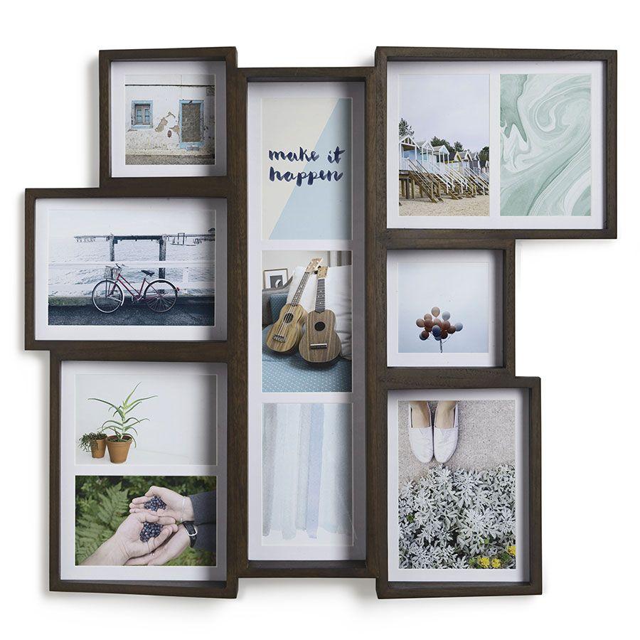 Multi-cadre bois foncé | Midica | Décorations murales | Pinterest