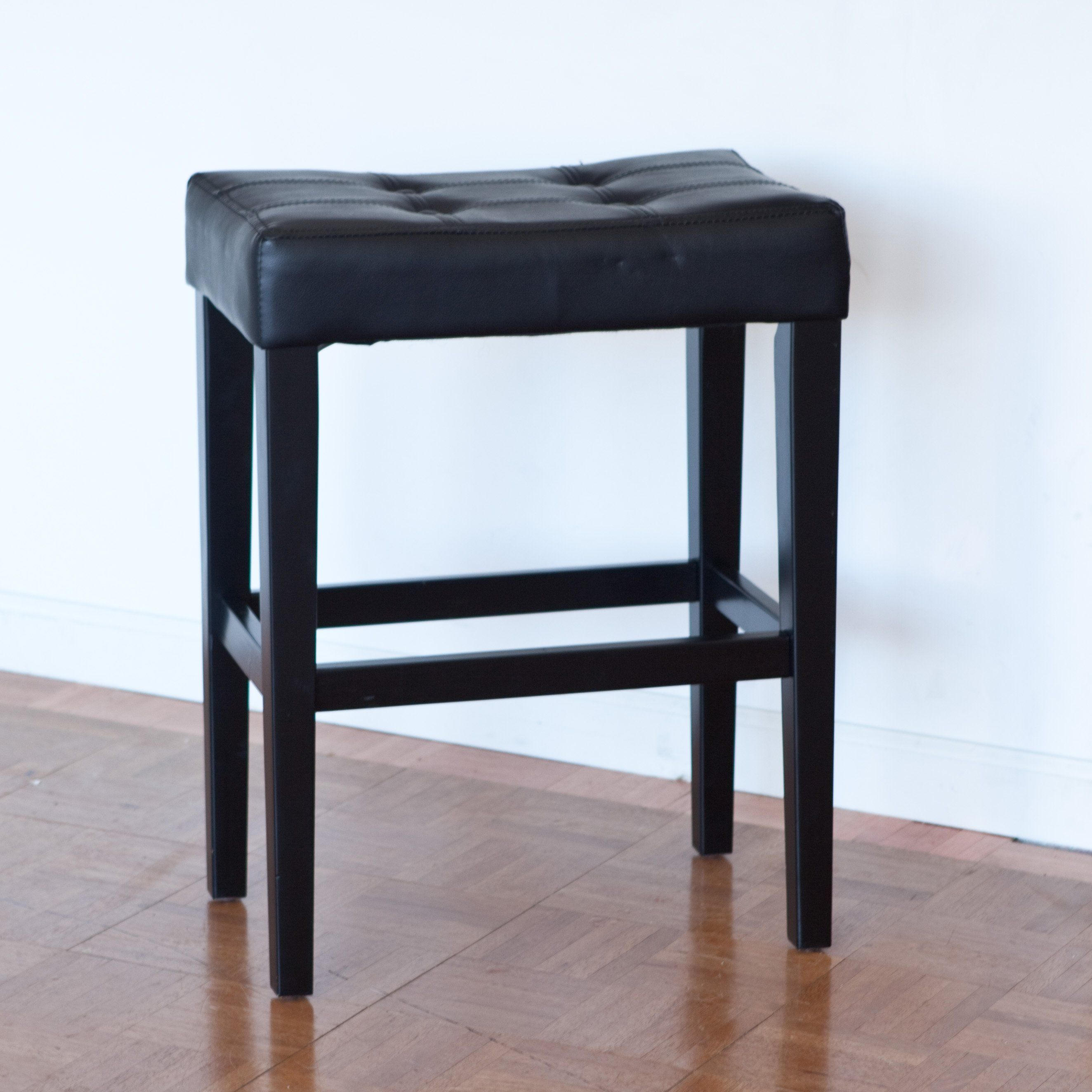Have To Have It Palazzo 26 Inch Saddle Counter Stool Black 49 98 Hayneedle Com Counter Stools Saddle Seat Bar Stool Home Bar Furniture