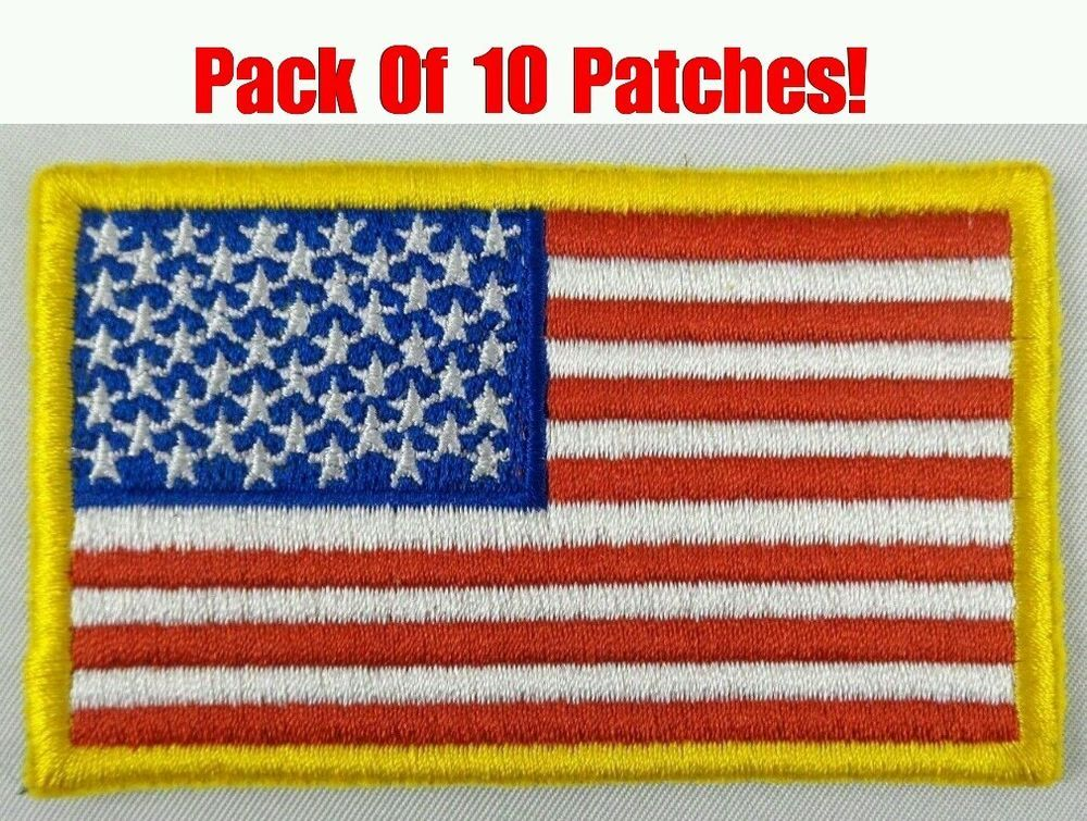 American Flag Patch Usa Patch United States Us Patch Embroidered Iron On Sew On Randomlittlefinds American Flag Patch Flag Patches Patches